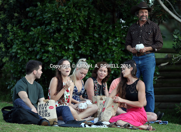 Lynzey Murphy and family celebrates her birthday with a picnic in Bondi on February 25, 2016 in Sydney, Australia