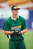 Lynchburg Hillcats pitcher Julian Merryweather (48) during practice before a game against the Wilmington Blue Rocks on June 3, 2016 at Judy Johnson Field at Daniel S. Frawley Stadium in Wilmington, Delaware.  Lynchburg defeated Wilmington 16-11 in ten innings.  (Mike Janes/Four Seam Images)