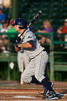 Henry Wrigley (15) of the Charlotte Stone Crabs during a game vs. the Daytona Cubs June 1 2010 at Jackie Robinson Ballpark in Daytona Beach, Florida. Charlotte won the game against Jupiter by the score of 4-1.  Photo By Scott Jontes/Four Seam Images