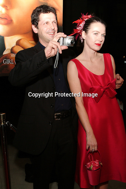 Essie Davia and Peter Webber<br />GIRL WITH A PEARL EARRING   Los Angeles Premiere<br />The Academy of Motion Pictures Arts &amp; Sciences, Samuel Goldwyn Theatre<br />Beverly Hills, CA, USA<br />Wednesday, December 10th, 2003    <br />Photo By Celebrityvibe.com/Photovibe.com