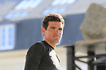 Greg Van Avermaet (BEL) BMC Racing Team at the Team Presentation for the upcoming 115th edition of the Paris-Roubaix 2017 race held in Compiegne, France. 8th April 2017.<br /> Picture: Eoin Clarke | Cyclefile<br /> <br /> <br /> All photos usage must carry mandatory copyright credit (&copy; Cyclefile | Eoin Clarke)