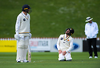 Fraser Colson stretches on day one of the Plunket Shield cricket match between the Wellington Firebirds and Otago Volts at Basin Reserve in Wellington, New Zealand on Monday, 21 October 2019. Photo: Dave Lintott / lintottphoto.co.nz