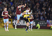 19/04/2016 Sky Bet League Championship  Burnley v Middlesbrough<br /> George Boyd challenges Grant Leadbitter