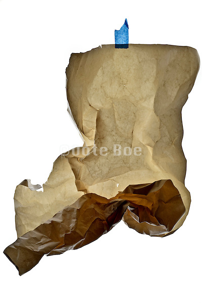 crumpled blank old paper