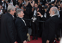 Claude Lelouch, Roman Polanski &amp; Jerry Schatzberg at the 70th Anniversary Gala for the Festival de Cannes, Cannes, France. 23 May 2017<br /> Picture: Paul Smith/Featureflash/SilverHub 0208 004 5359 sales@silverhubmedia.com
