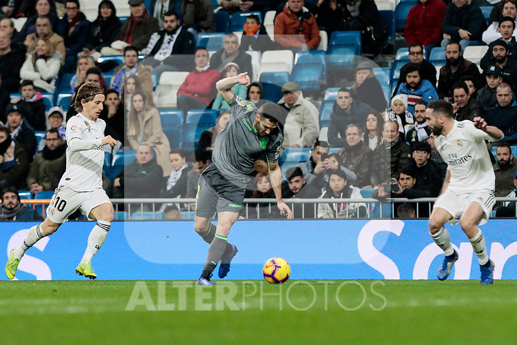 Real Madrid's XXX and Real Sociedad's XXX during La Liga match between Real Madrid and Real Sociedad at Santiago Bernabeu Stadium in Madrid, Spain. January 06, 2019. (ALTERPHOTOS/A. Perez Meca)<br />  (ALTERPHOTOS/A. Perez Meca)