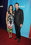 PASADENA, CA - JANUARY 15: Actress Jessica Szohr (L) and actor Jason O'Mara attend the NBCUniversal 2015 Press Tour at the Langham Huntington Hotel on January 15, 2015 in Pasadena, California.