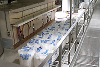 Sacs of sugar. sugar is often used in wine production and in champagne it is for example used to create the secondary fermentation in bottle Champagne Duval Leroy, Vertus, Cotes des Blancs, Champagne, Marne, Ardennes, France, low light grainy grain