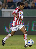 Necaxa Fwd Nicolas Olivera. Necaxa defeated LA Galaxy in an International friendly match 1-0 at The Home Depot Center in Carson, California, Wednesday July 12, 2006.