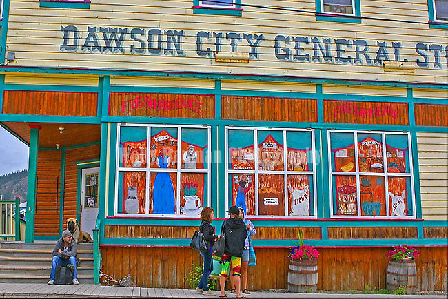 On the streets of Dawson City, The Tea House,THE YUKON TERRITORY, CANADA