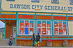 On the streets of Dawson City, The Tea House,THE YUKON TERRITORY, CANADA