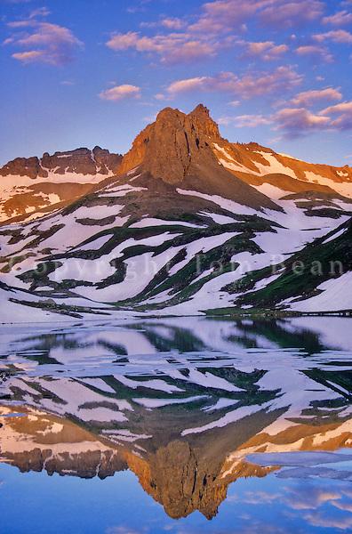 Ice Lake at sunrise in the, San Juan Mountains, San Juan National Forest, Colorado, AGPix_0015