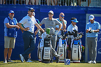 Seamus Power (IRL) and David Hearn (CAN) look over their tee shot on 1 during Round 4 of the Zurich Classic of New Orl, TPC Louisiana, Avondale, Louisiana, USA. 4/29/2018.<br /> Picture: Golffile | Ken Murray<br /> <br /> <br /> All photo usage must carry mandatory copyright credit (&copy; Golffile | Ken Murray)
