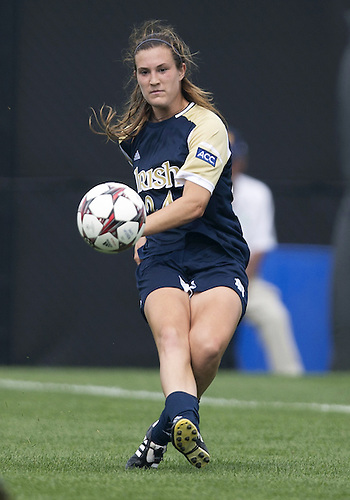 September 01, 2013:  Notre Dame defender Katie Naughton (24) during NCAA Soccer match between the Notre Dame Fighting Irish and the UCLA Bruins at Alumni Stadium in South Bend, Indiana.  UCLA defeated Notre Dame 1-0.