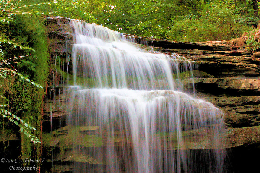 Grindstone Creek falls over the Niagara Escarpment in Waterdown Ontario Canada