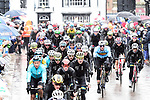 The riders pass through Ripon during the Men Elite Road Race of the UCI World Championships 2019 running 280km from Leeds to Harrogate, England. 29th September 2019.<br /> Picture: Allan McKenzie/SWpix.com | Cyclefile<br /> <br /> All photos usage must carry mandatory copyright credit (© Cyclefile | Allan McKenzie/SWpix.com)