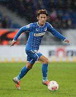 FUSSBALL   1. BUNDESLIGA   SAISON 2012/2013   20. SPIELTAG    TSG 1899 Hoffenheim - SC Freiburg      02.02.2013 Takashi Usami (TSG 1899 Hoffenheim) am Ball