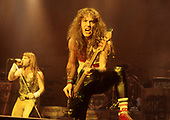 IRON MAIDEN - Bruce Dickinson and Steve Harris - performing live on the first leg of the World Slavery Tour in UK & Europe - 09 Aug-14 Nov 1984. Photo credit: George Bodnar Archive/IconicPix
