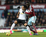 West Ham's Cheikhou Kouyate tussles with Manchester United's Radamel Falcao<br /> <br /> Barclays Premier League- West Ham United vs Manchester United  - Upton Park - England - 8th February 2015 - Picture David Klein/Sportimage