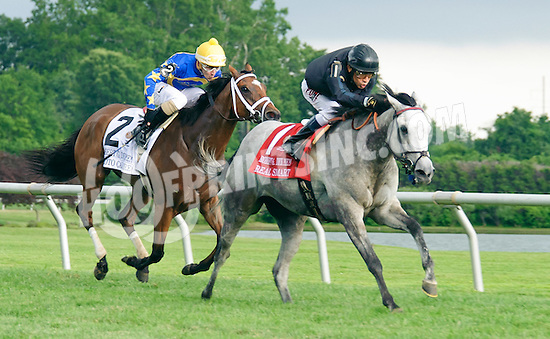 Real Smart winning The Robert Dick Memorial Stakes at Delaware Park on 7/9/16