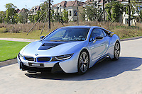 BMW i8 during Tuesday's Pro-Am Day of the 2014 BMW Masters held at Lake Malaren, Shanghai, China 28th October 2014.<br /> Picture: Eoin Clarke www.golffile.ie