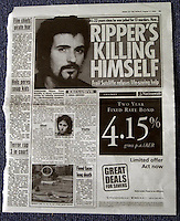 Pix: Barry Wilkinson/SWpix.com. The Yorkshire Ripper Archive. 17/08/2003...COPYRIGHT PICTURE>>SIMON WILKINSON>>0870 092 0092>>..News of the World article.
