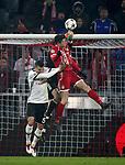 20.02.2018, Allianz Arena, München, GER, UEFA CL, FC Bayern München (GER) vs Besiktas Istanbul (TR) , im Bild<br />Pepe (Instanbul), Robert Lewandowski (München), Torwart Fabri (Instanbul)<br /><br /> Foto © nordphoto / Bratic