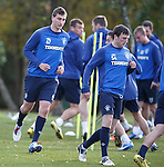 Luca Gasporotto and Callum Gallagher training with the first team