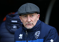 17th March 2018, Craven Cottage, London, England; EFL Championship football, Fulham versus Queens Park Rangers; Queens Park Rangers manager Ian Holloway looks on from the dugout before kick off
