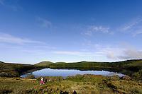 Lagoa da Lomba auf der Insel Flores, Azoren, Portugal