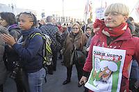 - Milano, 10/01/2015 - manifestazione di solidariet&agrave; per il settimanale satirico francese Charlie Hebdo vittima di un attentato terroristico<br /> <br /> - Milan, 10/01/2015 - demonstration of solidarity for the French satirical weekly Charlie Hebdo victim of a terrorist attack