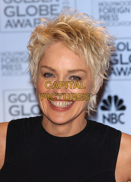 SHARON STONE.61st Annual Golden Globe Awards.25 January 2004.headshot, portrait, short cropped hair.www.capitalpictures.com.sales@capitalpictures.com.©Capital Pictures.
