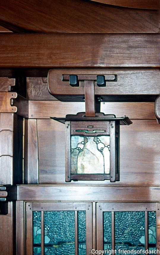 Greene & Greene: Gamble House, Pasadena CA. Lantern detail.