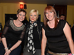 Michelle Faulkner, Sandra Milne and Carrie Meehan pictured at the Drogheda Cares at Christmas gig in The Venue at McHugh's. Photo:Colin Bell/pressphotos.ie