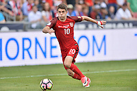Commerce City, CO - Thursday June 08, 2017: Christian Pulisic during their 2018 FIFA World Cup Qualifying Final Round match versus Trinidad & Tobago at Dick's Sporting Goods Park.