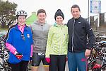 Ashling O'Carroll, John Kelleher, Elenor Fennessy and Kevin Fennessy enjoying the Puck Warriors Duathlon 5km run 15km cycle 5km run started at JP O Sullivan Park, Killorglin on Saturday