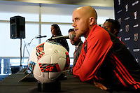 Toronto, ON, Canada - Thursday Dec. 08, 2016: Michael Bradley during a press conference prior to MLS Cup at the Kia Training Grounds.
