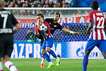 Antoine Griezmann of Atletico de Madrid Aleksandar Dragovic of Bayer 04 Leverkusen during the match of Uefa Champions League between Atletico de Madrid and Bayer Leverkusen at Vicente Calderon Stadium  in Madrid, Spain. March 15, 2017. (ALTERPHOTOS / Rodrigo Jimenez)