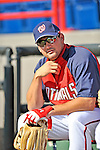 15 March 2008: Washington Nationals' third baseman Ryan Zimmerman watches batting practice prior to a Spring Training game against the Los Angeles Dodgers at Space Coast Stadium, in Viera, Florida...Mandatory Photo Credit: Ed Wolfstein Photo