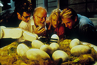 Jurassic Park (1993)<br /> Richard Attenborough, Jeff Goldblum, Sam Neill &amp; Laura Dern<br /> *Filmstill - Editorial Use Only*<br /> CAP/KFS<br /> Image supplied by Capital Pictures