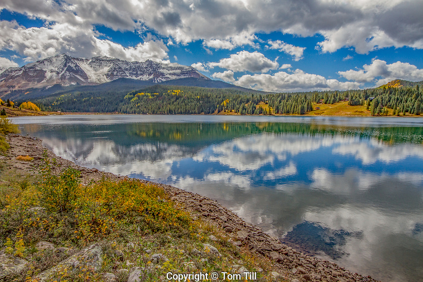 Trout Lake and San Juan Mountains, Uncomphagre National Forest, Colorado, Near Telluride Morning