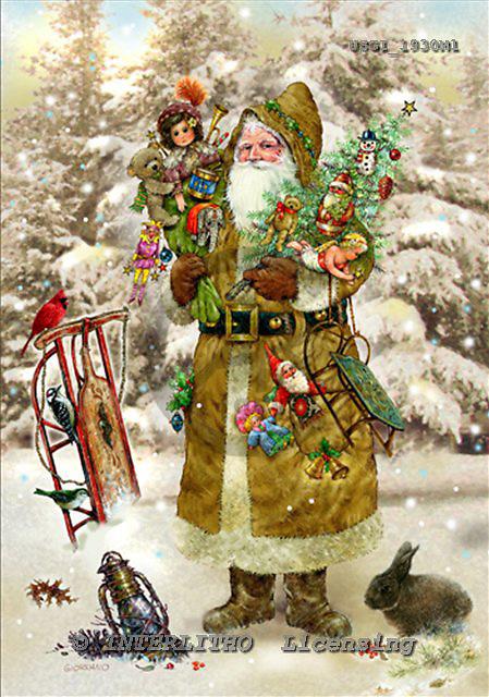 GIORDANO, CHRISTMAS SANTA, SNOWMAN, WEIHNACHTSMÄNNER, SCHNEEMÄNNER, PAPÁ NOEL, MUÑECOS DE NIEVE, nostalgic, paintings+++++,USGI1930M1,#X# nostalgic,vintage