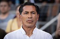 SAN JOSE, CA - AUGUST 24: Benjamin Galindo coach of the San Jose Earthquakes during a game between Vancouver Whitecaps FC and San Jose Earthquakes at Avaya Stadium on August 24, 2019 in San Jose, California.