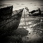 Abandoned boats, Fleetwood, Lancashire, UK