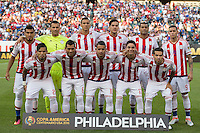 Action photo during the match USA vs Paraguay at Lincoln Financial Field, Copa America Centenario 2016. ---Foto  de accion durante el partido USA vs Paraguay, En el Lincoln Financial Field, Partido Correspondiante al Grupo - D -  de la Copa America Centenario USA 2016, en la foto: Paraguay starting eleven vs USA
