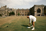 'WINE IN ENGLAND, SOMERSET', CROQUET IS PLAYED ON THE LAWN OF THE BISHOPS PALACE, 1989