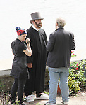 "Christopher Lloyd, Ric Klass (director) - Shooting on May 1, 2011 - ""Excuse Me For Living"" - A Romantic Comedy - an Independent Film written, directed and produced by Ric Klass. (Photos by Sue Coflin/Max Photos)"