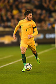 June 13th 2017, Melbourne Cricket Ground, Melbourne, Australia; International Football Friendly; Brazil versus Australia; Mathew Leckie of Australia breaks forward with the ball