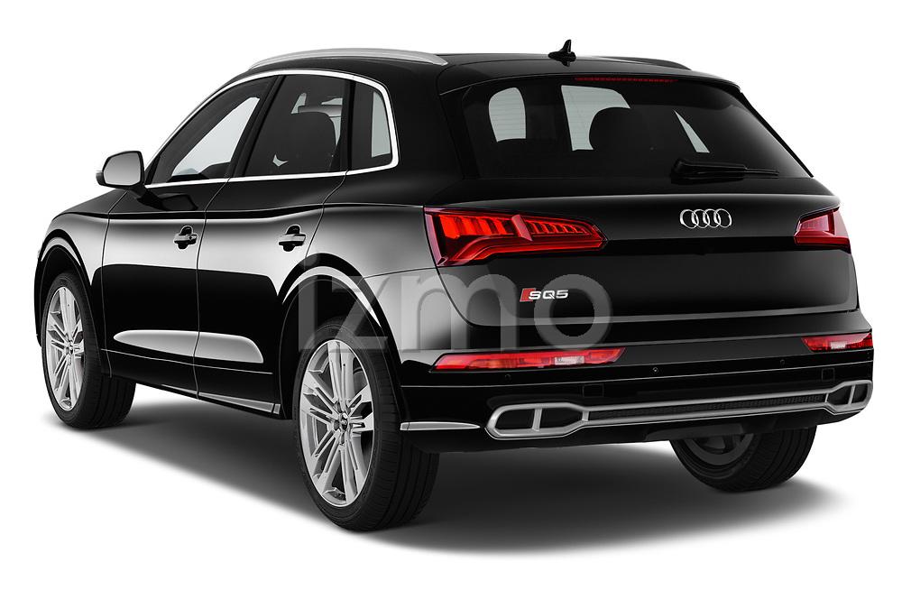 Car pictures of rear three quarter view of a 2018 Audi SQ5 Premium Plus 5 Door SUV angular rear