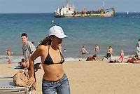 - Barcellona, Barcelloneta beach....- Barcellona, spiaggia di Barcelloneta....